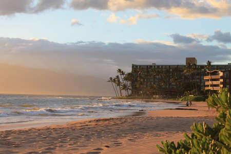 マウイ島ハワイのサンセット 写真素材