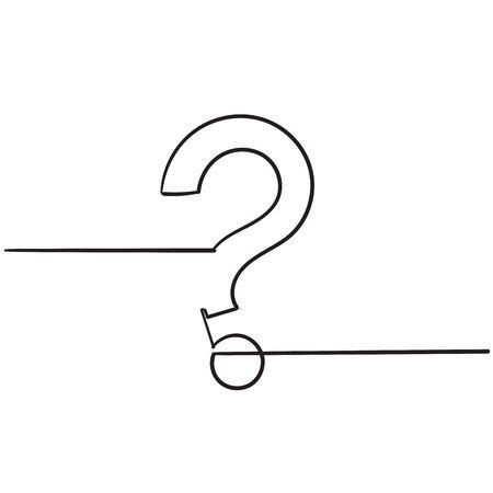 doodle question mark illustration vector