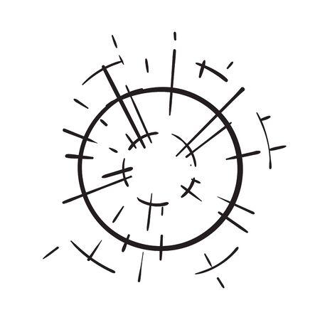 hand drawn doodle light beam, light burst illustration vector isolated