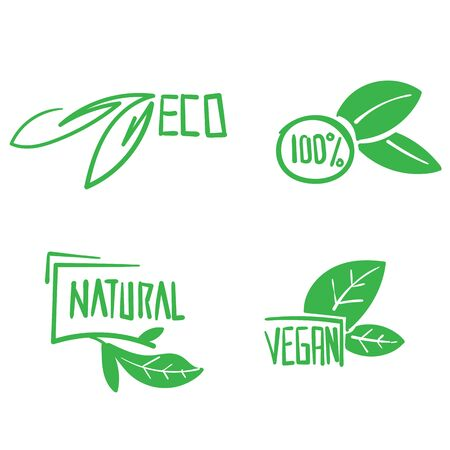 hand drawn Vegan symbol. Fresh nature product badge, healthy vegetarian food products and natural ecological foods labels. Eco market tag design, doodle Imagens - 149178175