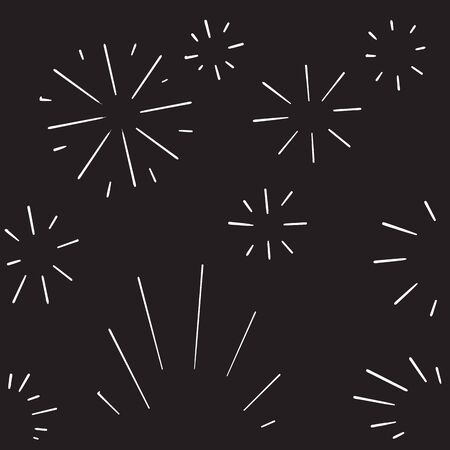 doodle fireworks burst icon hand drawing