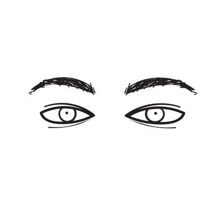 hand drawn various character eyes illustration vector
