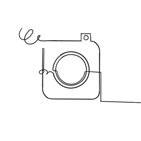 hand drawn doodle camera icon illustration.cartoon style vector Imagens - 150821858