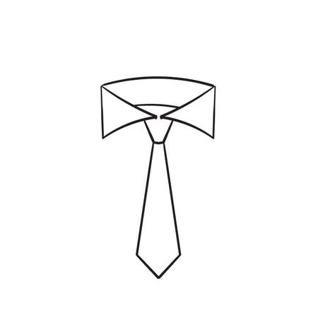 hand drawn doodle tie icon illustration