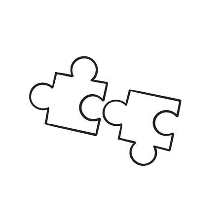 hand drawn doodle Puzzle line icon.cartoon style vector