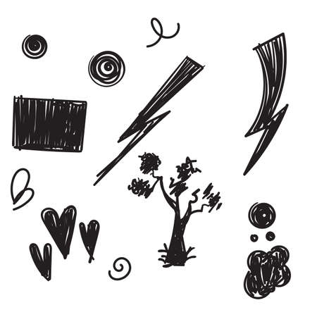 hand drawn doodle element illustration vector isolated