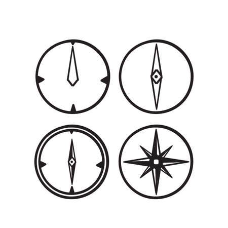 hand drawn doodle compass icon illustration vector isolated Ilustração