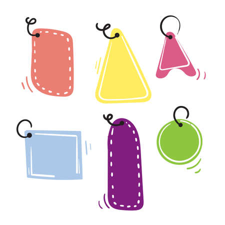 hand drawn price tag label illustration icon vector doodle