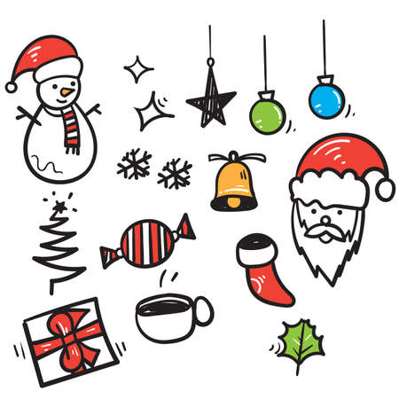 hand drawn doodle christmas element illustration vector isolated background Ilustração
