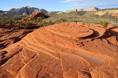 Petrified Sand Dunes - Snow Canyon, Utah  photo