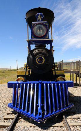 wood railroads: Historic Jupiter Steam Locomotive at Golden Spike National Monument