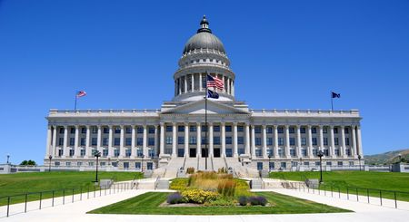 salt lake city: Utah Capitol Building in Salt Lake City, Utah Stock Photo