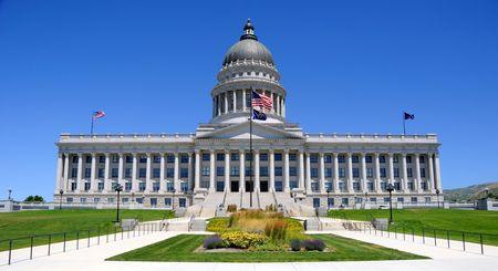 Utah Capitol Building in Salt Lake City, Utah Фото со стока