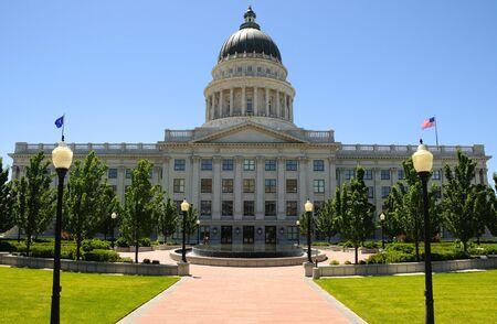 salt lake city: Edificio del Capitolio de Utah en Salt Lake City, Utah  Foto de archivo