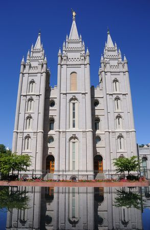 mormon temple: LDS Mormon Temple In Salt Lake City Stock Photo