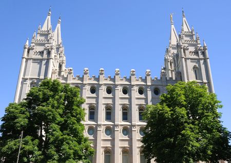 mormon: Mormon Temple in Salt Lake City, Utah