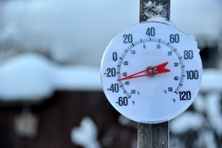 Cold Weather Thermometer  Stock Photo - 7626421