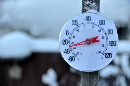 Termómetro de clima frío