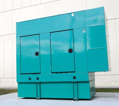 generators: Backup Power Generation Stock Photo