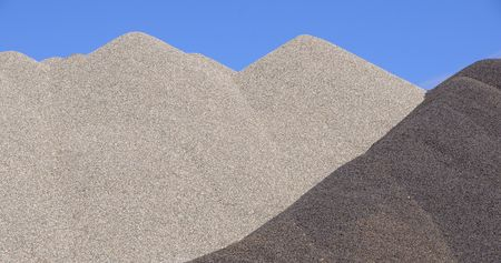 sand quarry: Mixed Gravel Pile for Winter Road Traction