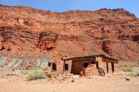 Lees Fort along Colorado River at entrance to Grand Canyon photo