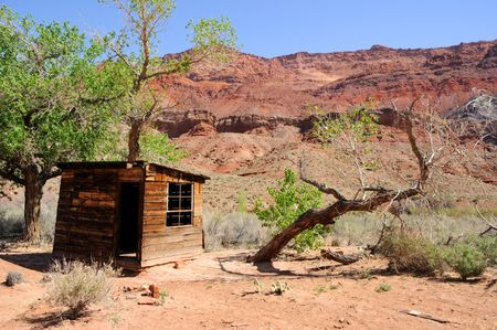 paria canyon: Historic Cabin Paria Canyon Wilderness  Stock Photo