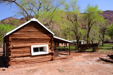 Historic Log Cabin at Lees Ferry photo