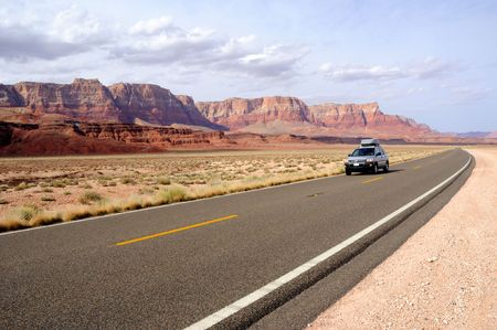 stone road: Road Trip through Vermilion Cliffs National Monument Stock Photo