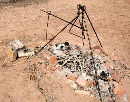 stove pipe: Traditional Pioneer Fire Pit at Pipe Springs National Historic Park