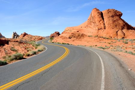 Scenic Road Through Valley of the Fire State Park photo