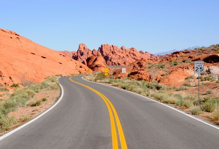 Scenic Road through Valley of Fire State Park  photo