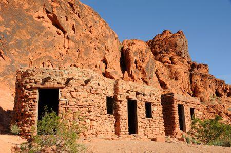 Historische stenen hutten - Valley of Fire State Park