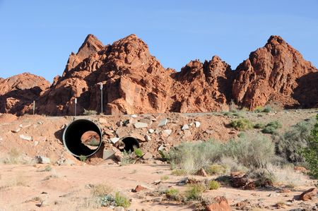 mohave: Culvert in Mohave Desert Wash