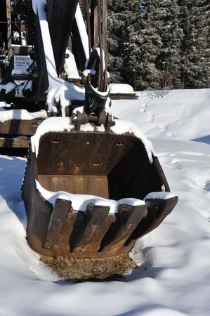 stove pipe: Historic Mining Steam Shovel in Alaska
