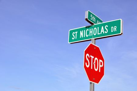 sinterklaas: Saint Nicholas Drive in North Pole, Alaska