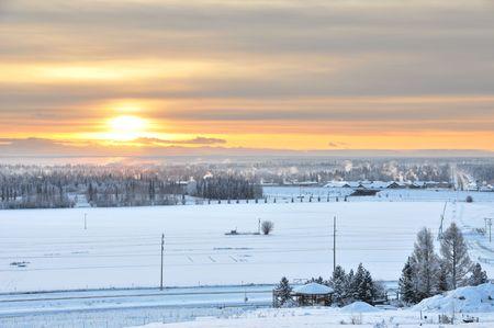 winter road: Arctic Winter Solstice  Stock Photo