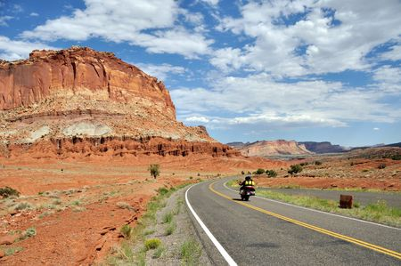 Motorcycling through Capitol Reef National Park