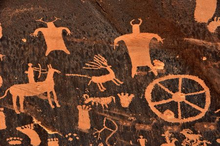 Ancient Indian Petroglyph Stock Photo - 7765719
