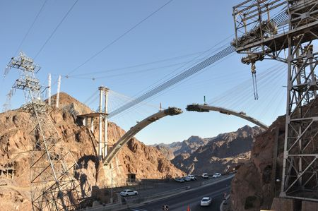 Hoover Dam Bypass Highway under Construction photo