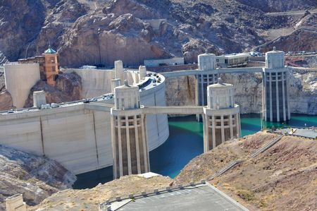 Hoover Dam and Water Intake Towers photo