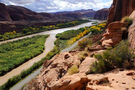 Moab Portal View of Colorado River Stock Photo - 8215558