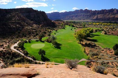 Desert Golf Course in Moab photo