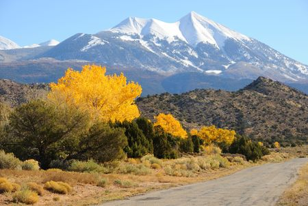 La Sal Mountain Byway in the Fall photo