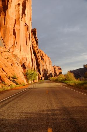 crack climbing: Wall Street Cliffs near Moab