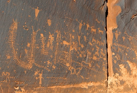 Ancient Indian Petroglyph Rock Art photo
