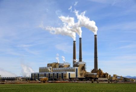 carbone: Utah centrale del carbone-sparato impianto Archivio Fotografico