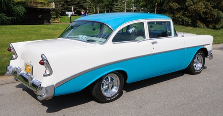 bel air: Fairbanks, Alaska, June 19,2010: Midnight Sun Cruise-In Auto Show, 1956 Chevy Bel Air Editorial
