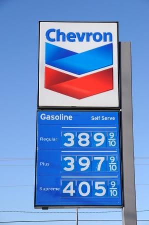 libysch: Fairbanks, Alaska, 5 M�rz 2011: Gas Preise steigen dramatisch aufgrund der libyschen und Nahen Osten Unruhen Editorial