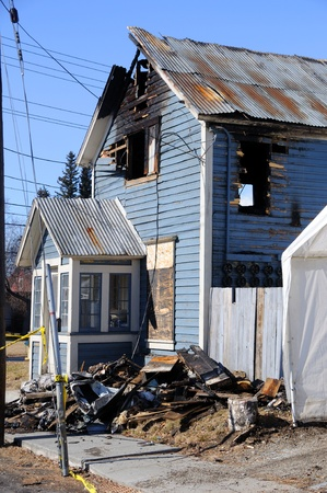 fire damage: Old Home Burns Down Editorial