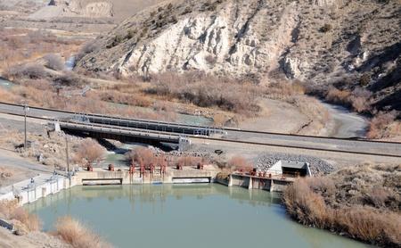 Diversion Dam on the Jordan River, Utah photo